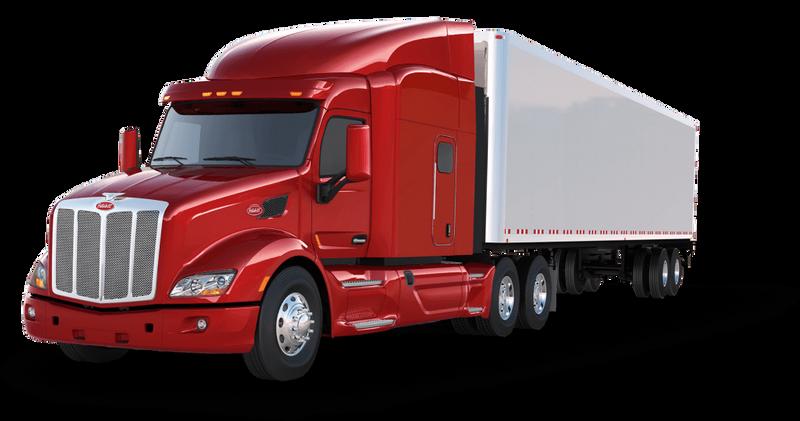Red peterbilt truck repair
