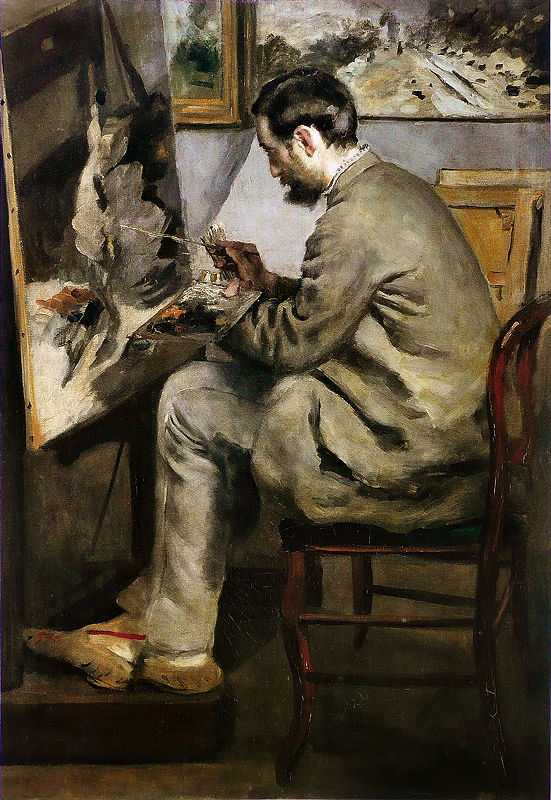 'Frédéric Bazille Painting at his Easel', by Pierre-Auguste Renoir (1841–1919), c. 1867, Fabre Museum, Montpellier, deposit from the Musée d'Orsay