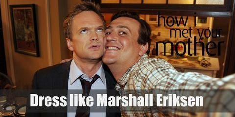 Marshall Eriksen is always wearing either a graphic tee or a plaid shirt and jeans