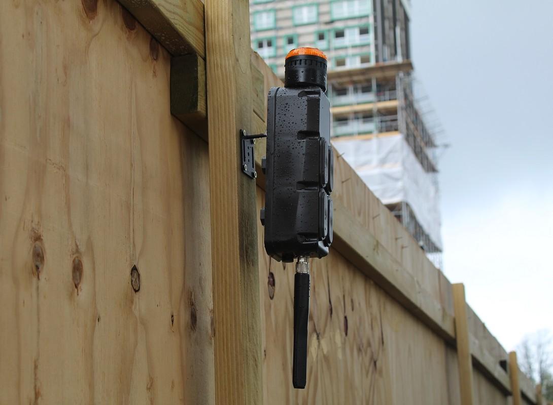 Wireless Battery Alarm System on Construction Hoarding