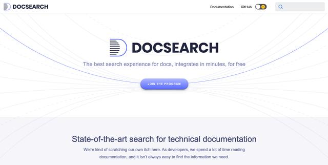 Algolia Docsearch