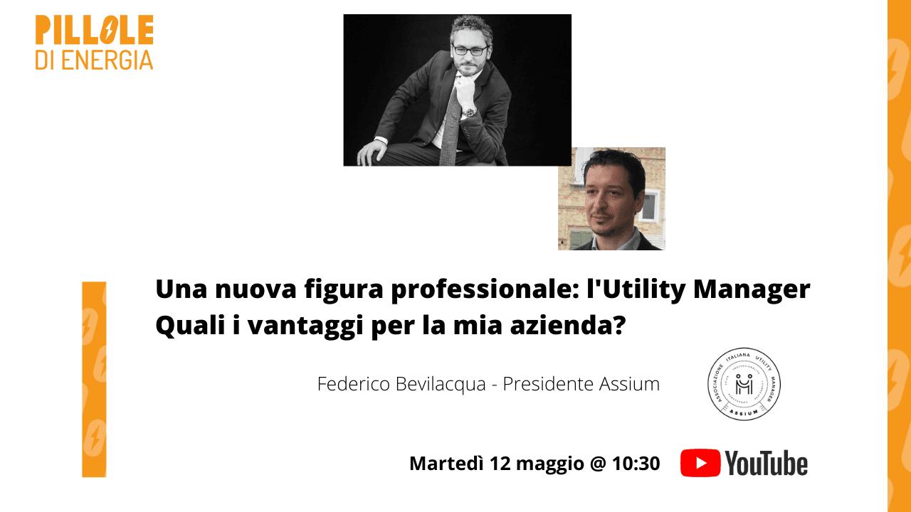 locandina evento diretta YouTube Utility Manager