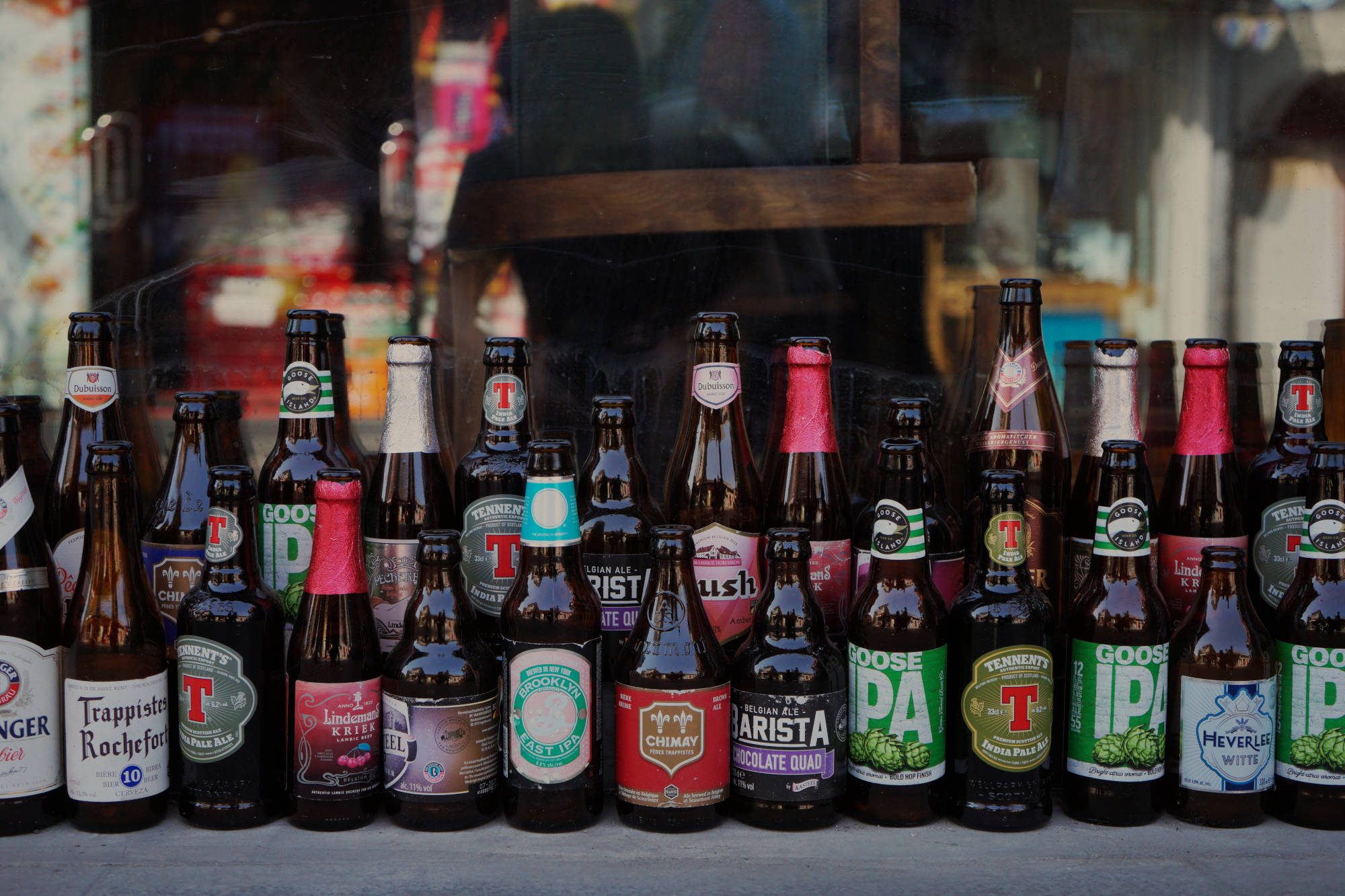 Variety of different beer styles