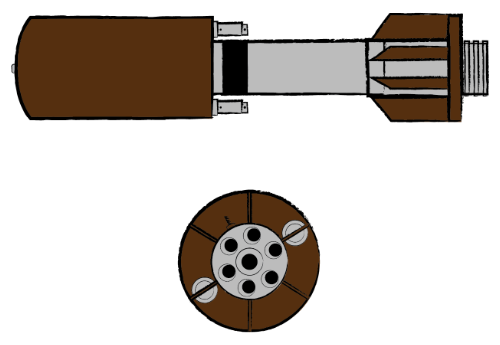 Illustration of Ground-Launched Muntion