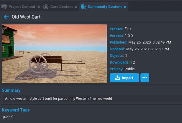 Community Content Cart