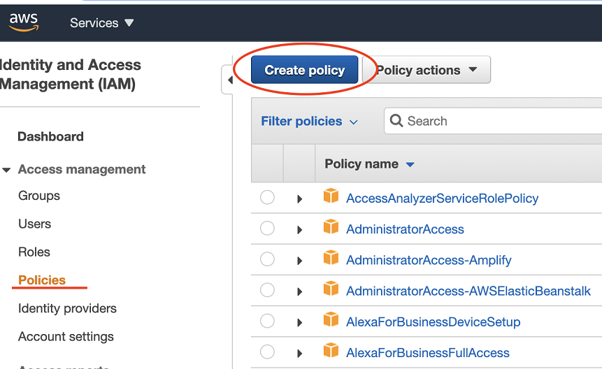 Create a new Policy