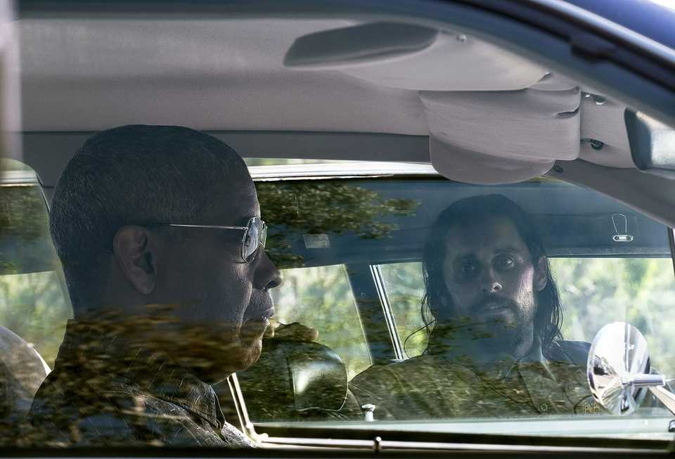 Denzel Washington and Jared Leto in The Little Things