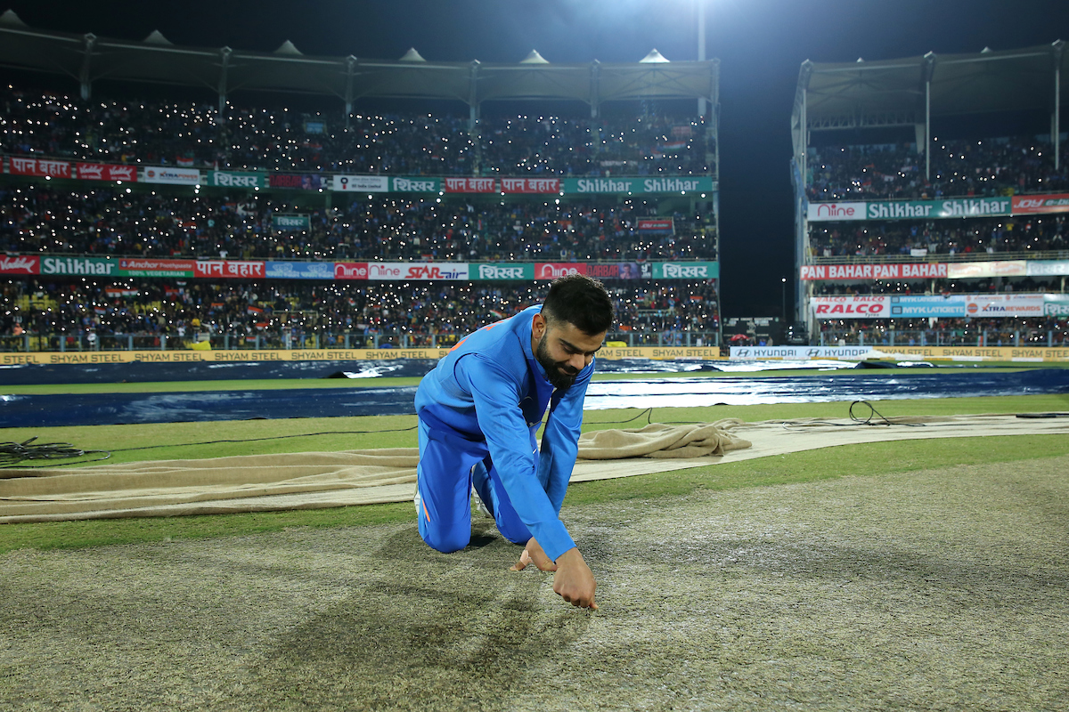 Virat Kohli Pitch Inspection at Guwahati before India vs. Sri Lanka