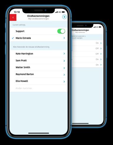 Nummereigenaren en mederwerkers regelen hun beschikbaarheid eenvoudig met de Belfabriek app.