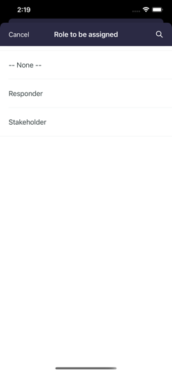 Invite new users option.