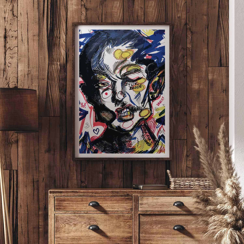 Stu(c)k Brain Art Print