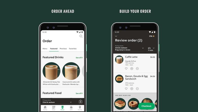 Starbucks example - app