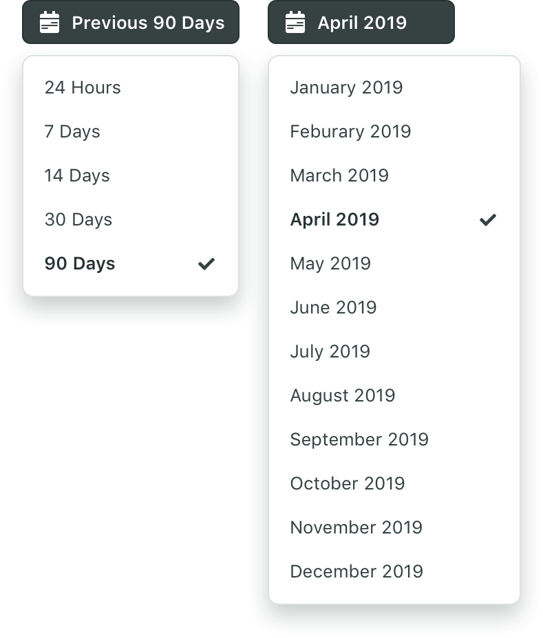 Date Range with Preset Options