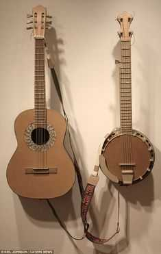guitars from cardboard boxes