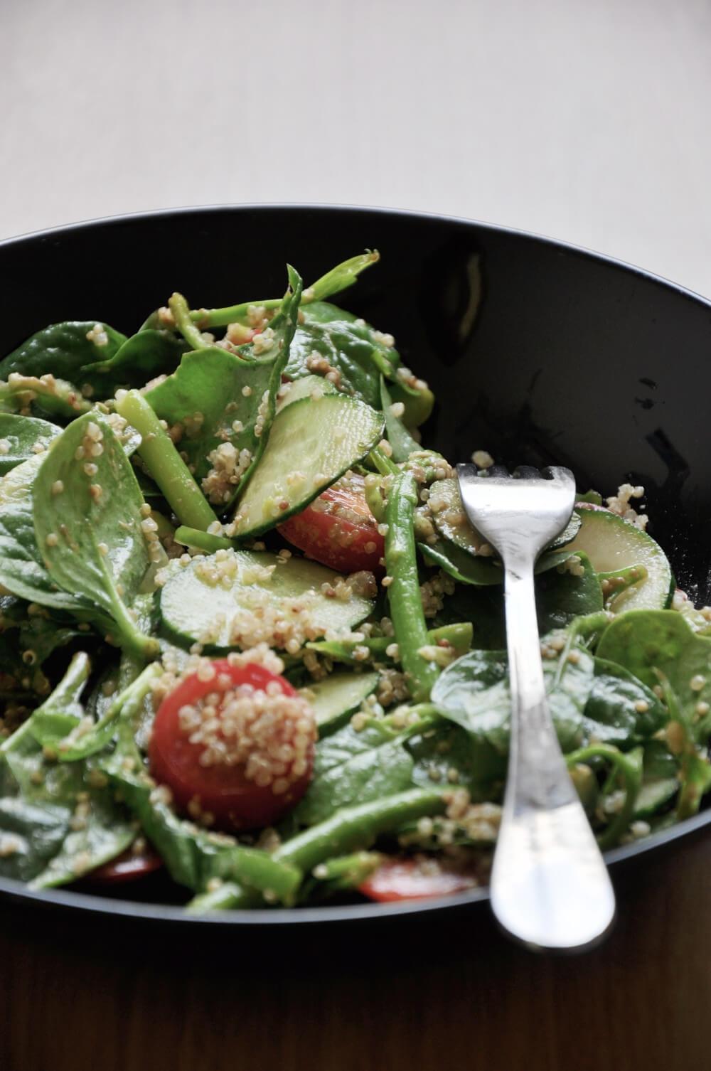 Quinoa Edamame Salad with Sesame Dressing
