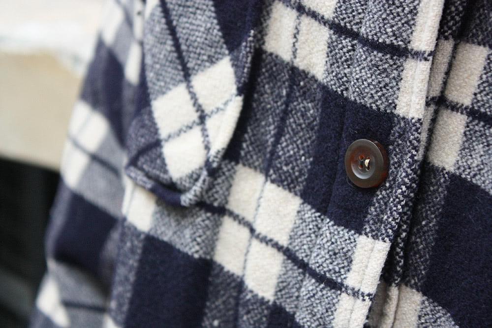 Doublure de poche d'un manteau Rouen