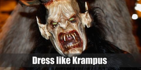 The Krampus is a hairy creature that stands on his two hooved hind legs. He also has very deadly and long horns sprouting from his head.