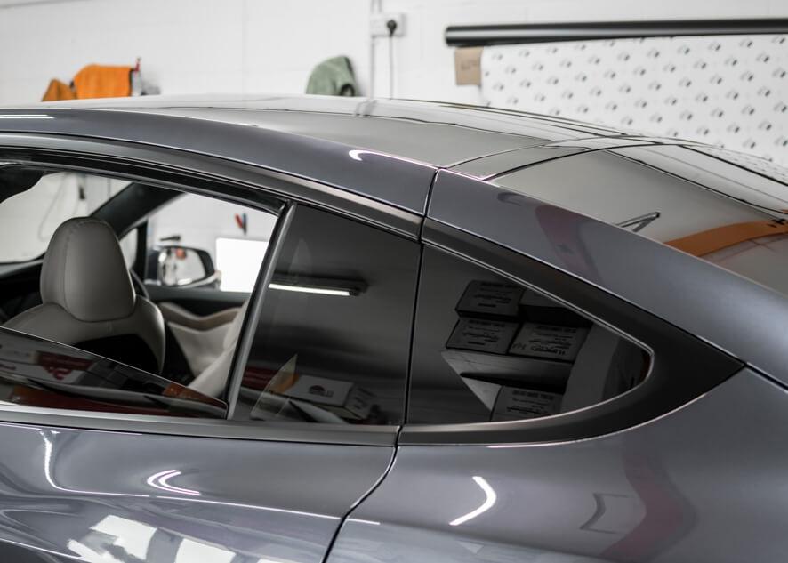 Tesla Model X after dechroming/chrome delete
