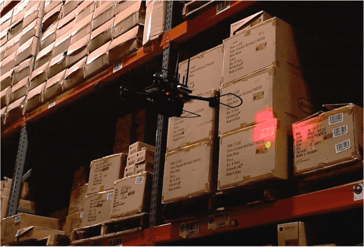 autonomous drone scanning inventory