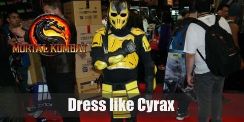 Cyrax may have started out on the bad side, but he's reformed and decided to side with the light. Cyrax looks like a robotic version of Scorpion with his enhanced ninja armor. One major difference, though, is his full helmet.