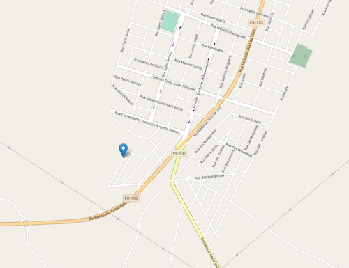 """""""Example of an area with unnamed roads in OpenStreetMap"""""""