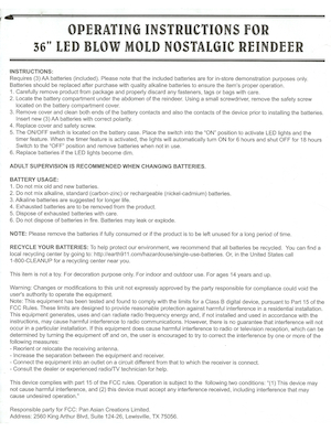 Pan Asian Creations Nostalgic Reindeer Instruction Manual.pdf preview