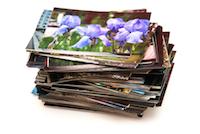 A stack of photos.