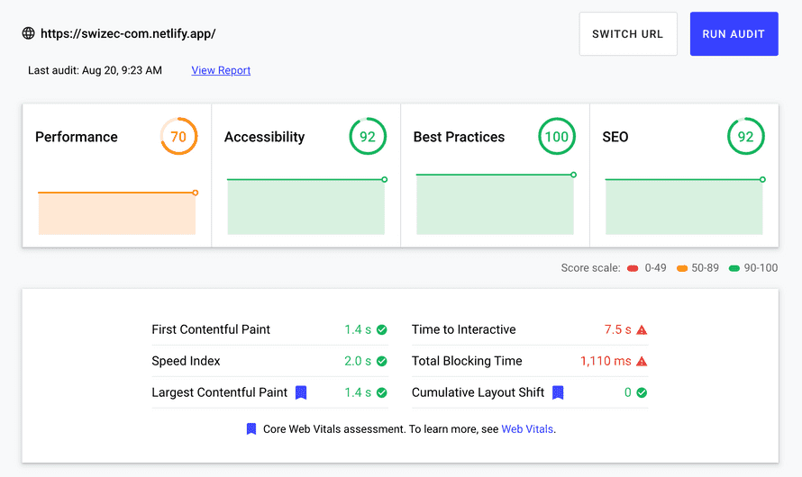 New homepage performance with a lot more content