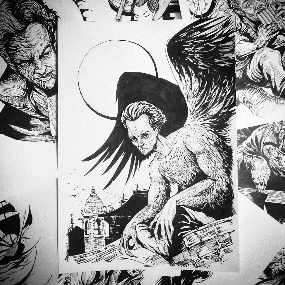 Иллюстрация к роману «Невеста ветра», художник Максим Никифоров