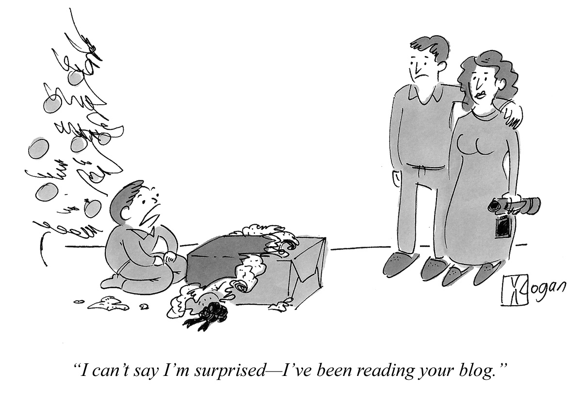 I can't say I'm surprised--I've been reading your blog.