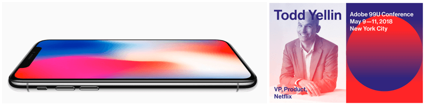iphone and 99u using gradients