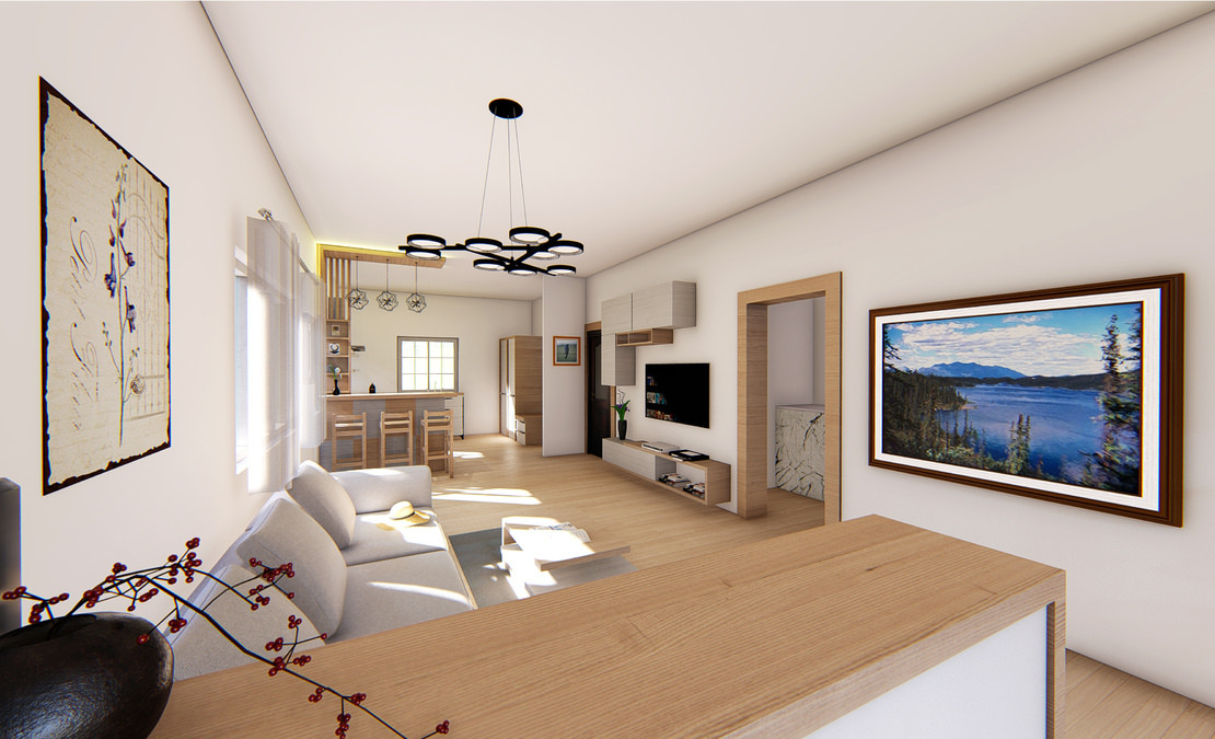 Vitrag Streamside Apartment for sale near Ooty - Wooden flooring