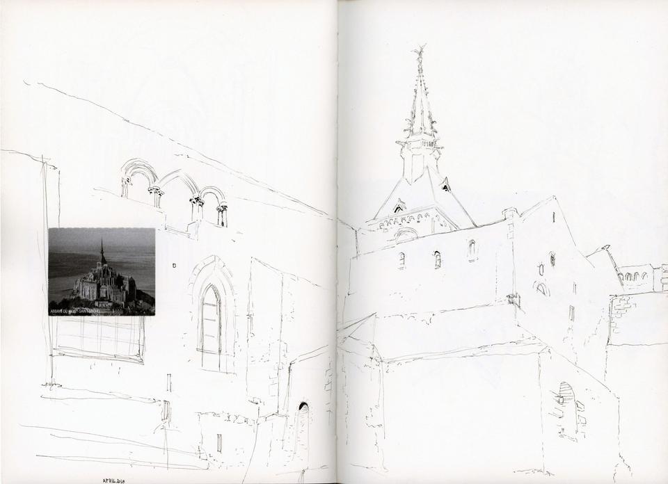 Mont saint Michel, from sketchbook