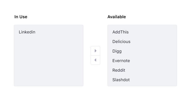 default dual ListBox