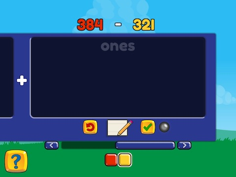 Subtract two 3-digit numbers (no regrouping) Math Game