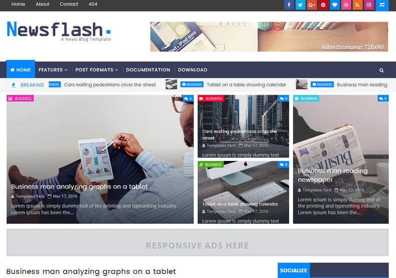 Newsflash-Blogger-Template