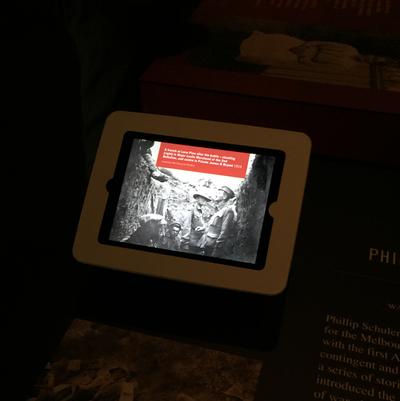 The Schuler iPad interactive running in the museum