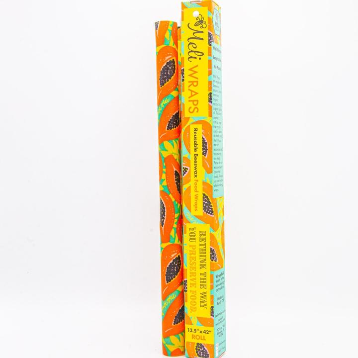 Meli Wraps   Beeswax  Wrap Bulk Roll   Tropical Papaya