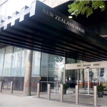 Photograph of the building's entrance