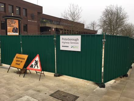 Timber & Steel Hoarding – Peterborough City Council