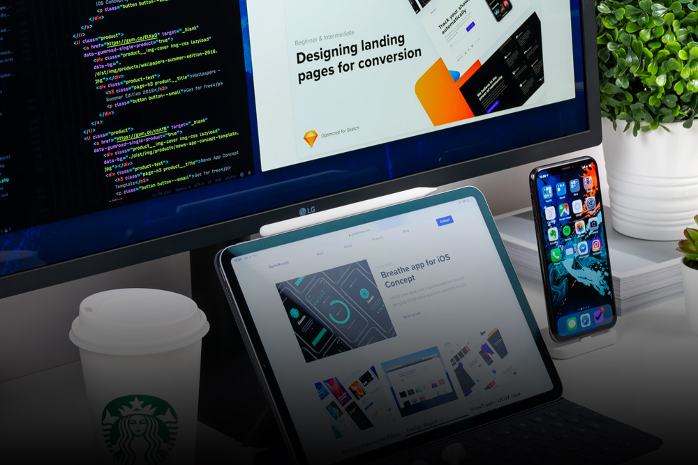 Writing Website Copy on Laptop