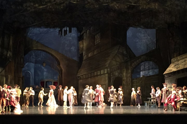 """Robert Thomson's lighting design for the National Ballet of Canada's production of """"Manon""""."""