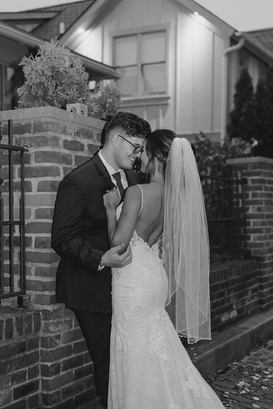 Kalika and I posing for a couples shot post-wedding