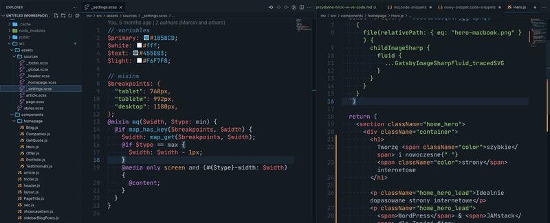 VS Code- Split