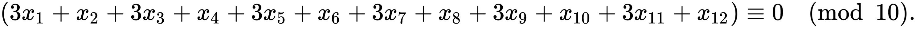 Check digit calculation