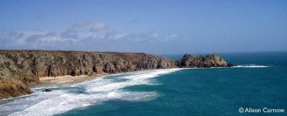 porthcurno beaches and cliffs