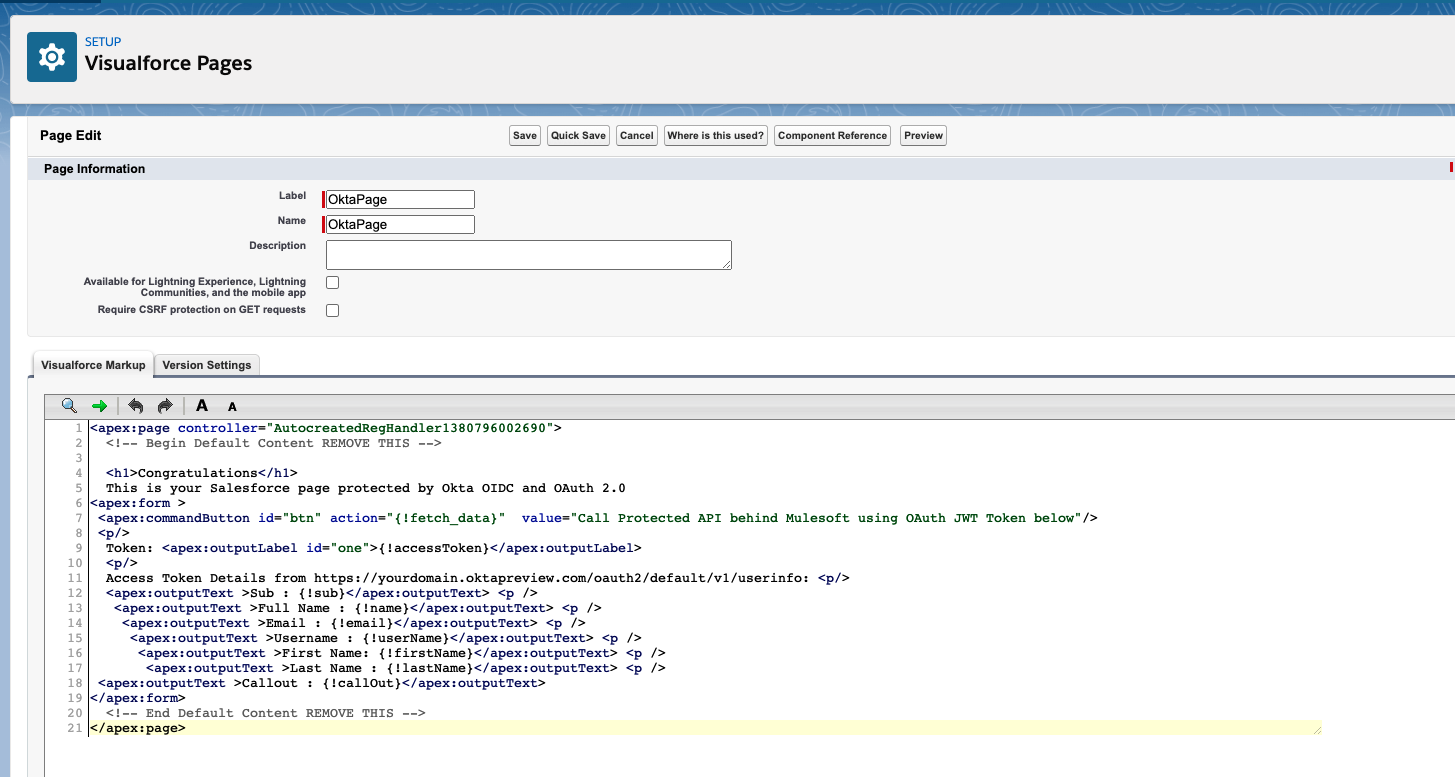 Salesforce new visualforce page