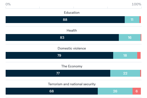 Important issues facing Australia - Lowy Institute Poll 2020