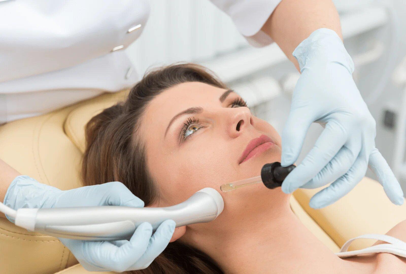 Woman receiving facial treatment at 99 Medispa clinic