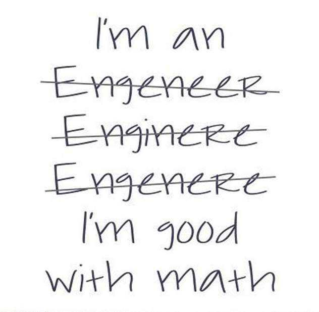Funny engineer spelling
